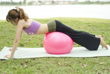 Free Fitness Series Exercise Ball Royalty Free Stock Image - 9303856