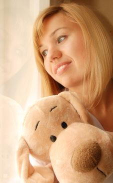 Free Girl With Toy Stock Photos - 9304353