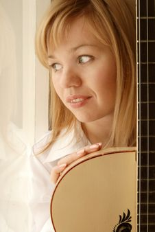 Free Girl With Guitar Royalty Free Stock Photo - 9304385