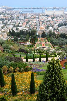 Free City Haifa.The Garden Of Bahai. Royalty Free Stock Images - 9304679