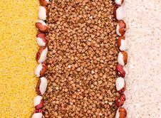 Free Millet, Buckwheat, Rice Background Royalty Free Stock Photo - 9305065