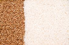 Free Buckwheat And Rice Background Royalty Free Stock Images - 9305069