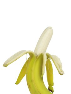 Free Peeled Banana Royalty Free Stock Photo - 9305285