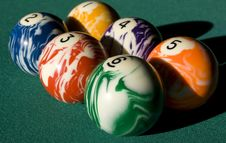 Free Billiard Spheres Stock Image - 9305501