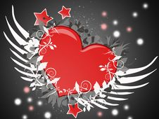 Free Flying Heart Stock Images - 9306174