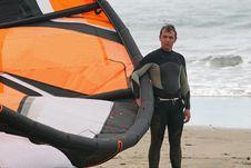 Free Kitesurfer Royalty Free Stock Image - 9306186