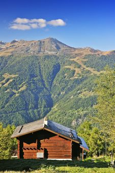 Chalet With A View Stock Images
