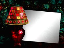Background With Lamp And Space For Text Royalty Free Stock Photos