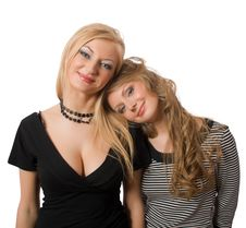 Free Similar Sisters Isolated Royalty Free Stock Images - 9307339