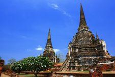 Free Stupa In Ayutthaya Thailand Stock Photography - 9307552
