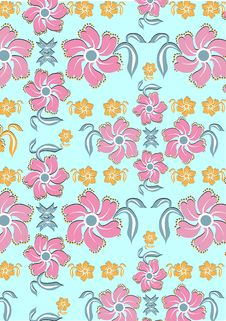 Free Floral Abstract Retro Background Stock Images - 9308014