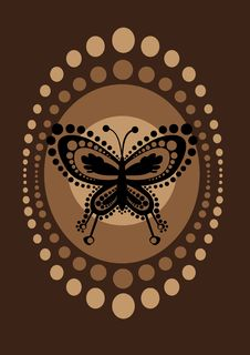 Free Retro Butterfly Royalty Free Stock Photo - 9308215