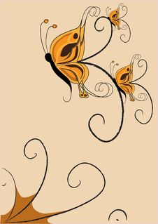 Free Funky Butterflies Stock Photo - 9308220