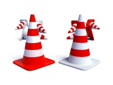 Free Traffic Cones Stock Photos - 9308443