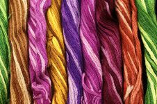 Free Background Of Colour Threads Stock Photos - 9308503