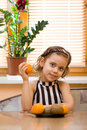 Free Young Girl Eating Fruits Stock Images - 9318424
