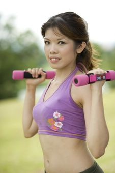 Free Fitness Series Resistance Training Royalty Free Stock Photo - 9310355