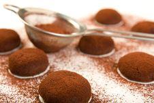 Free Chocolate Truffle Cookies Stock Image - 9311501