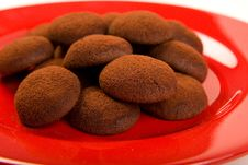 Free Chocolate Truffle Cookies Royalty Free Stock Images - 9311559