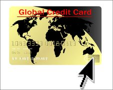 Free Global Credit Card Vector Stock Photos - 9311743