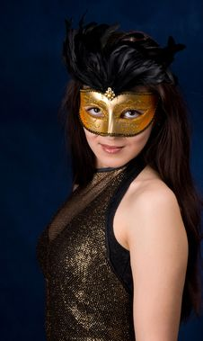 Free The Girl In A Mask Stock Photos - 9312033