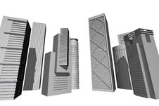 Free 3D Render Of Modern Skyscrapers Stock Photography - 9312152