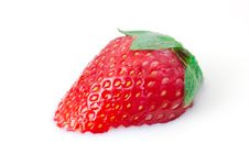 Free Single Strawberry In Milk Royalty Free Stock Images - 9312619