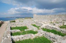 Ruins Of Chersonesos Taurica Stock Photography