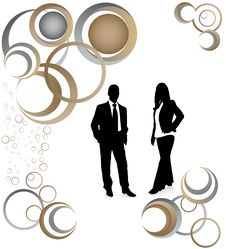 Free Business People And Abstract Stock Image - 9312871