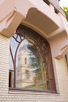 Free Window In Art Nouveau Style Stock Photo - 9313240