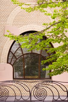 Free Window In Art Nouveau Style Royalty Free Stock Images - 9313569
