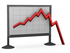 Free Red Falling Business Chart Stock Images - 9313684