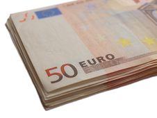 Free Stack Of Euros Royalty Free Stock Photo - 9313825