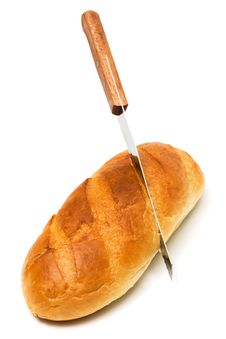 Free Fresh Bread And Knife Royalty Free Stock Photography - 9313917