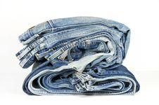 Free Folded Washed-out Blue Jeans Stock Photos - 9314853