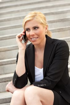 Free Businesswoman Talking On The Phone Stock Photos - 9318053