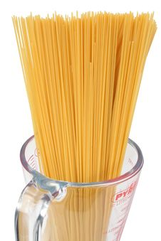 Spaghetti In A Glass Jar Stock Photography