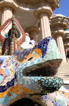 Free Park Guell, Barcelona, Spain Royalty Free Stock Image - 9318426
