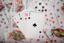 Free Close-up Up Of A Four Aces Royalty Free Stock Photo - 9318445