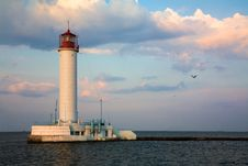 Free Lighthouse Over Blue Sky Background Stock Photography - 9318662