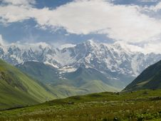 Mountain View - Shkhara Stock Images