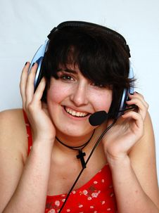 Free Smiling Young DJ Girl Stock Photos - 9319493