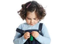 Free Little Girl Holding Tools Royalty Free Stock Photos - 9319498