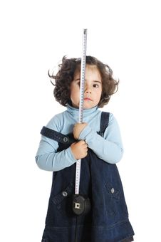 Free Little Girl Holding Tools Stock Photo - 9319510