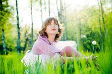 Free Romantic Girl Outdoors Stock Photos - 9319513