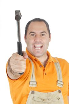 Free Conceptual Image Of A Carpenter/Mechanic Stock Image - 9319551