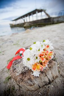 Free Bridal Bouquet Outdoors Stock Photography - 9319582