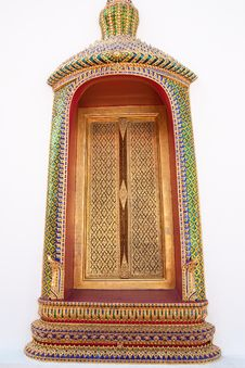 Free Window Of Buddhist Church Royalty Free Stock Photography - 9319667