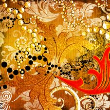 Free Golden Background Royalty Free Stock Image - 9319816