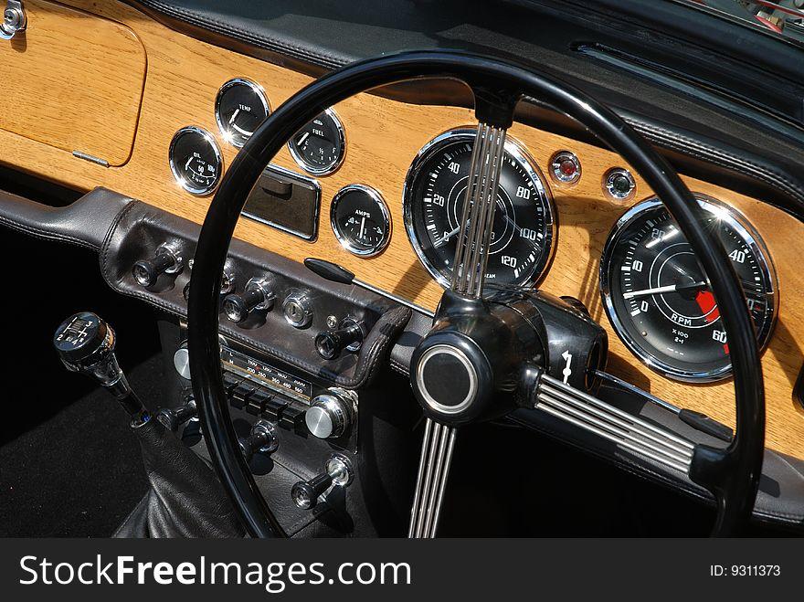 Clasic British car dashboard